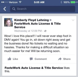motor vehicle testimonial footework