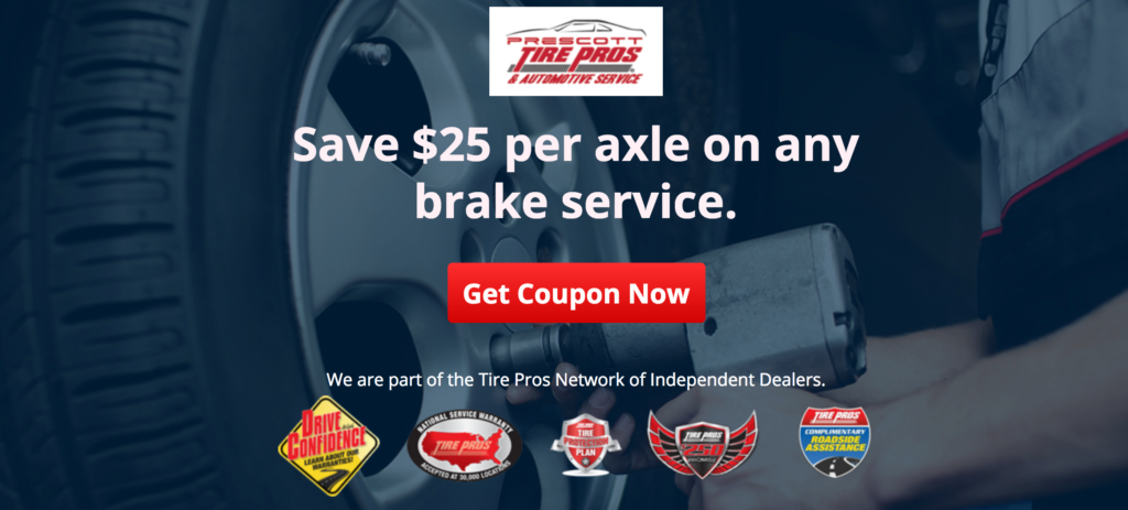 Prescott Tire Pros Coupon