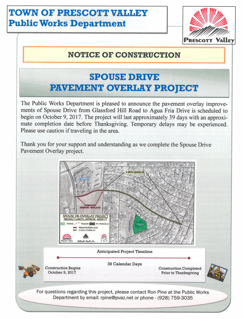Spouse overlay project Prescott Valley