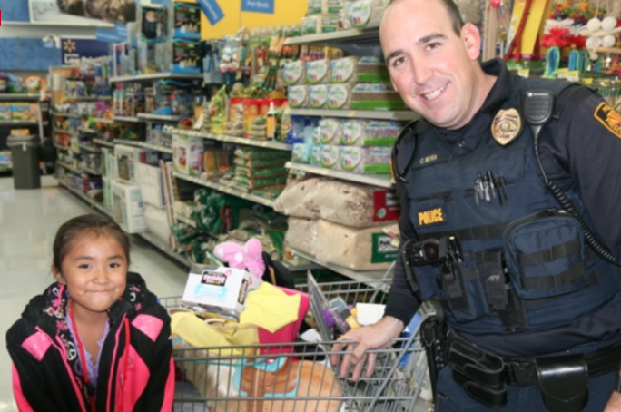 Shop with a Cop Fundraiser in Prescott Valley