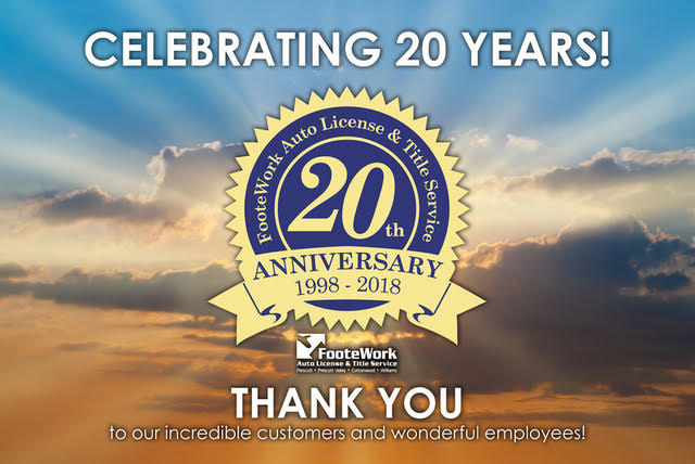 NORTHERN AZ's FIRST AUTHORIZED PRIVATE MVD CELEBRATES 20 YEARS