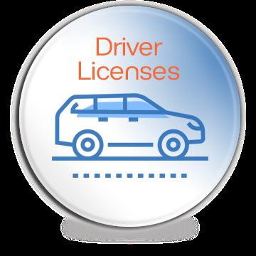 Drivers License Button